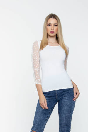 Kira póló - krémszín