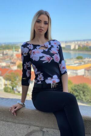 Pamela póló - virág mintás