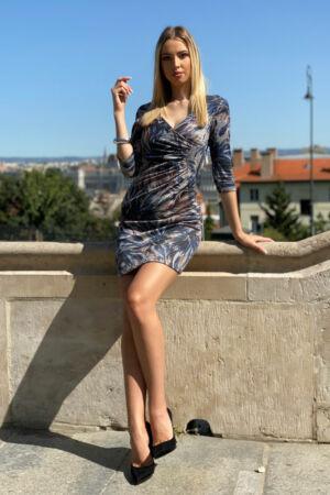 Enikő ruha - kék alaptónus
