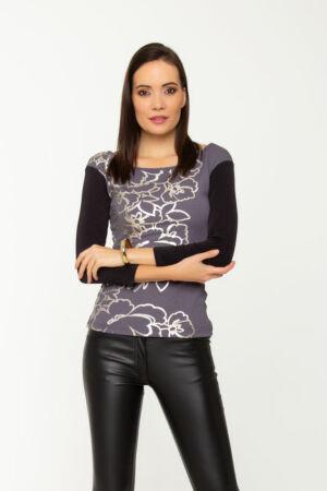 Cyla póló - ezüst mintás