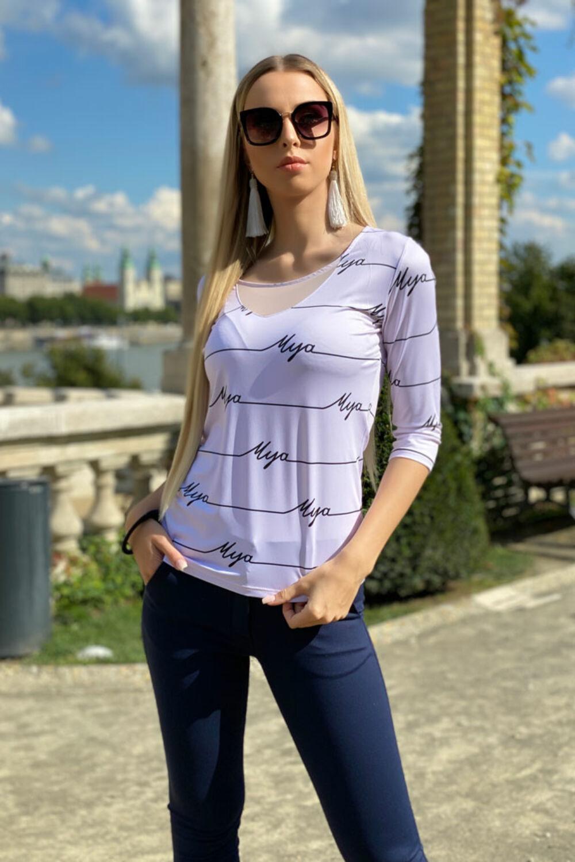 Livi póló - púder alap, mya felirat