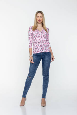 Kamill póló - virágos