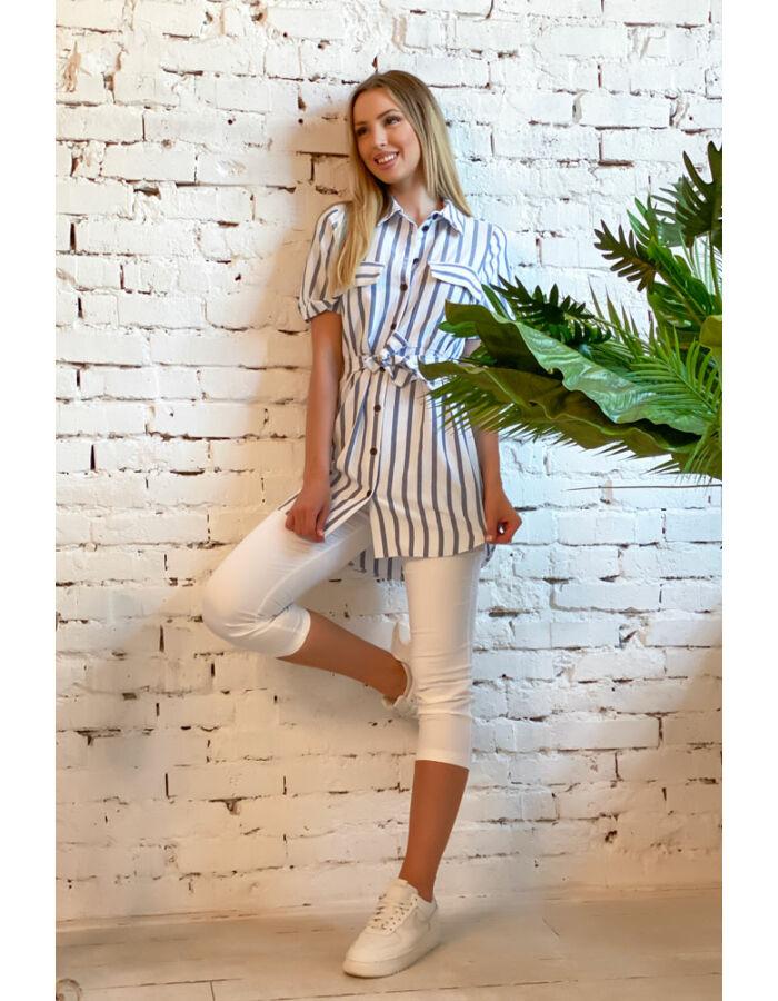 Betti ingruha - kék/fehér csíkos